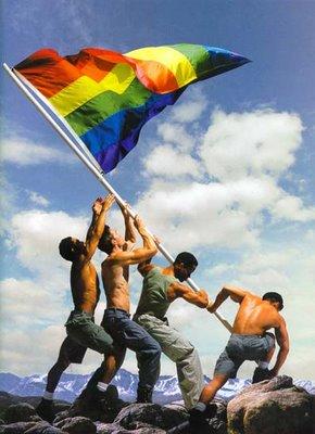 Gay Flag Planting